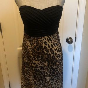 High Low Leopard Print Dress